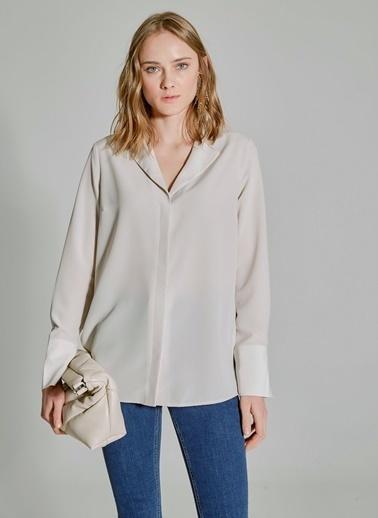 People By Fabrika Ceket Yakalı Gömlek Bej